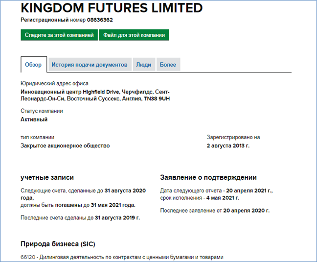 KINGDOM FUTURES домен